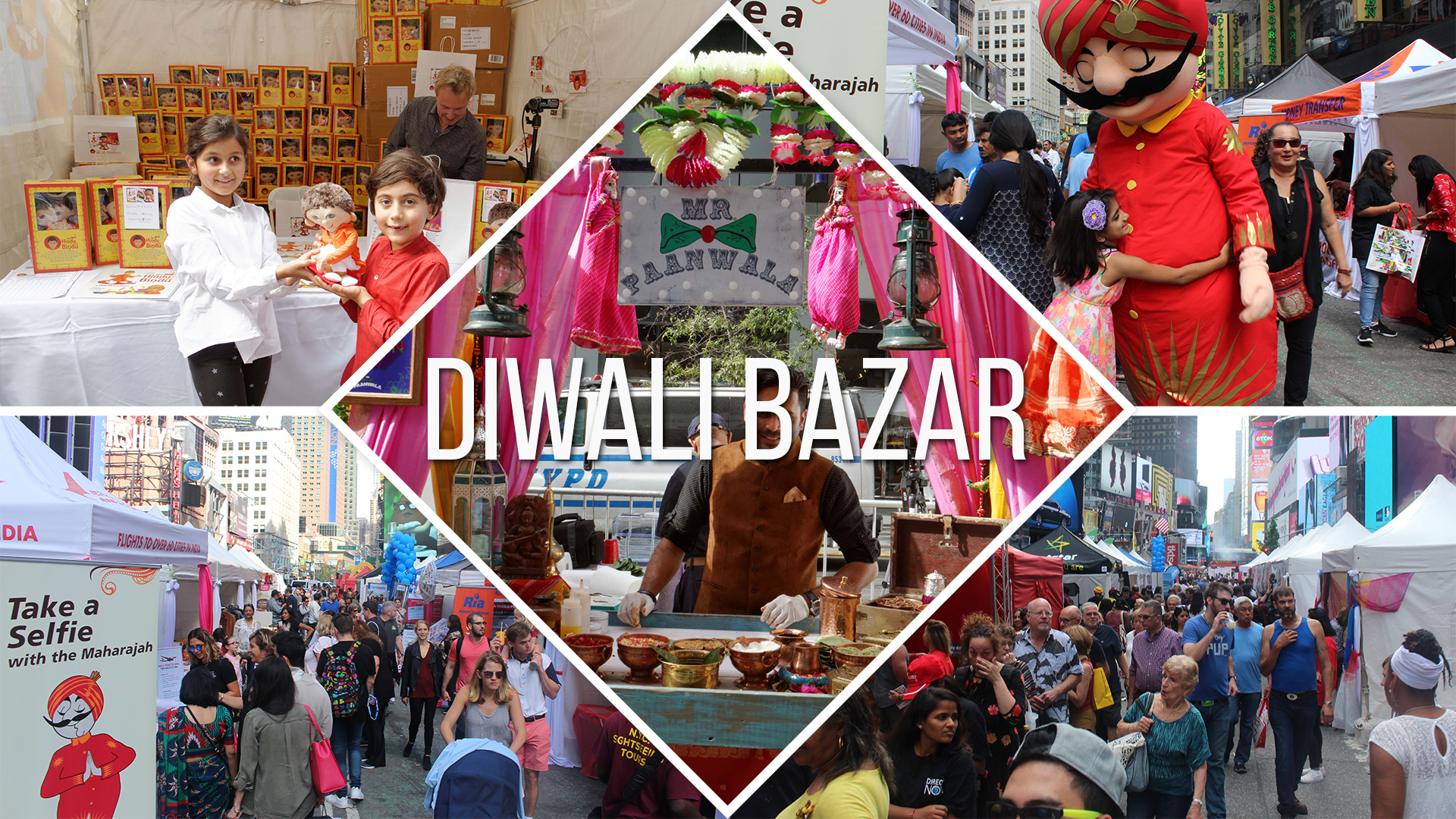 Diwali Bazar Collage Slider w text